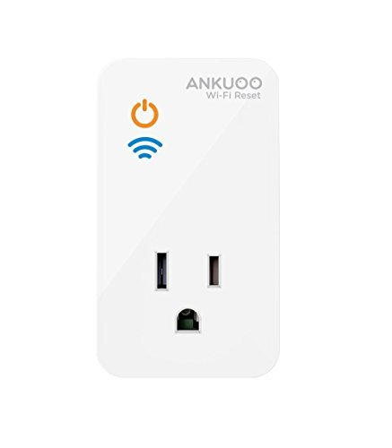 (Ankuoo REC Wi-Fi Restarter Monitor Router/Modem/AP and Reset Power if WiFi Fails, 1.75 x 3 x 2.25 inch, White)