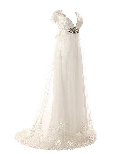 JAEDEN Damen Brautkleider A Linie Lang Chiffon Hochzeitskleider ...