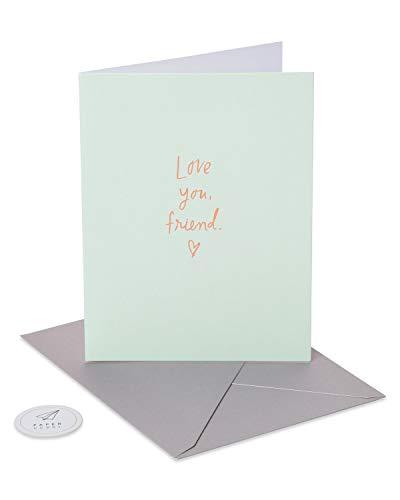 Paper Rebel Love You Friend Friendship Card