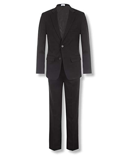 (Calvin Klein Big Boys' 2-Piece Formal Suit Set, Black, 8)
