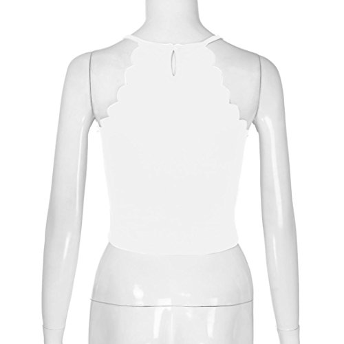 Sexy Canotte Beautyjourney Bianca Donna Canotta Bluse Elegante Eleganti Camicia shirt Estivi Magliette Top Moda T Maglia nUpFwqBWU