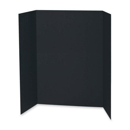 Wholesale CASE of 2 - Pacon Tri-fold Corrugated Display Board-Presentation Board, 48''x36'', 24/CT, Black by PAC
