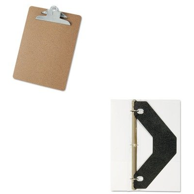 KITAVE75225UNV40304 - Value Kit - Avery Triangle Shaped Sheet Lifter for Three-Ring Binder (AVE75225) and Universal 40304 Letter Size Clipboards (UNV40304)