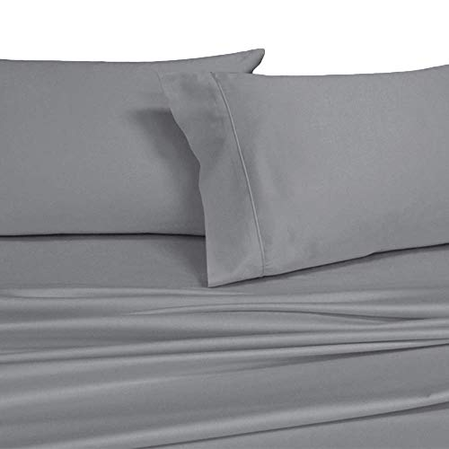 Royal Hotel's Solid Gray 1000-Thread-Count Super-Deep 4pc Queen Bed Sheet Set 100% Cotton, Sateen Solid, Extra Deep Pocket