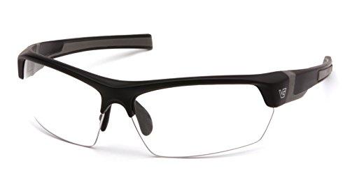 Venture Gear Tensaw Half-Frame High Performance Safety Eyewear, Black Frame, Clear Anti-Fog Lens