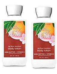 Bath and Body Works 2 Pack Pretty as a Peach Super Smooth Body Lotion 8 Oz