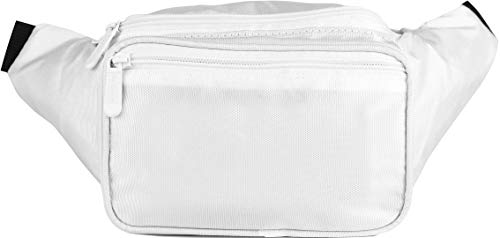 SoJourner White Fanny Pack - Packs for men, women | Cute Festival Waist Bag Fashion Belt - Leather Piping Patent