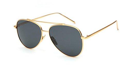 de en style du lunettes Pièce Lennon cercle inspirées polarisées retro Grise vintage rond métallique soleil AZxxzwqS