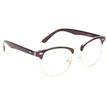 Amazon.com: Cyxus Blue Light Filter Semi-Rimless Glasses ...