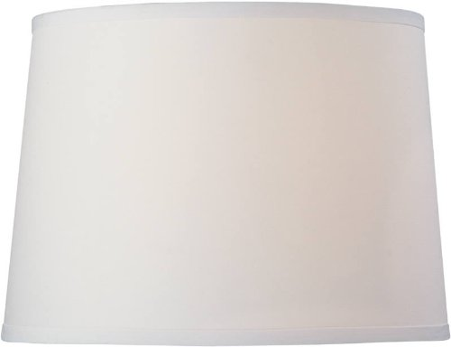 Dolan Designs 140010 Modified Barrel Hard Back Lamp Shade, White ()