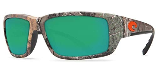 Costa Del Mar Fantail Sunglasses, Realtree Xtra Camo, Green Mirror 580 Glass Lens from Costa Del Mar