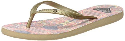 Roxy Damen Bermuda Flip Flops Zehentrenner Mehrfarbig (Gold/Estate Blue)