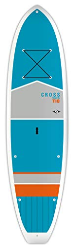 BIC Sport Tough-TEC Cross SUP Stand Up Paddleboard, Blue/Grey/Orange, 11'0