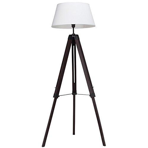 Lámpara de pie de diseño vintage-look - oscuro - de madera ...