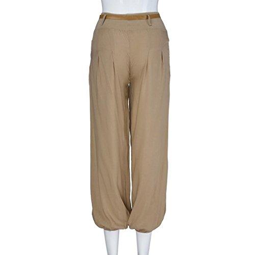 Yoga De Printemps Sport Kaki Pantalon Automne Harem Mode zahuihuiM Femmes Blet Casual Taille Haute Style Pantalon qHwAgx4zW