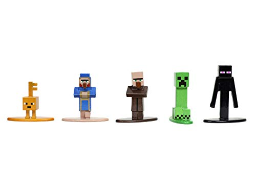 "Minecraft Dungeons Nano Metalfigs 1.65"" Die-cast Collectible Figures 20-Pack Wave 4, Toys for Kids and Adults"