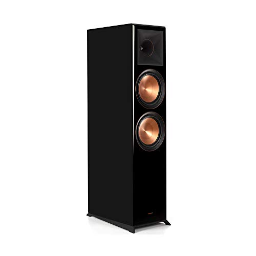 Klipsch Reference Premiere RP-8000F Floorstanding Speaker with Tractrix Horn-Loading Technology (Piano Black (Single))