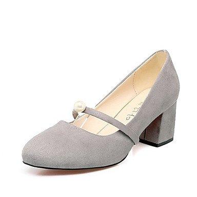 Le donne sexy elegante sandali Han edition tacchi alti confortevole ed elegante nuovo testa rotonda spessa con bassa unica perla scarpe accessori per scarpe da donna , rosso , noi6.5-7 / EU37 / uk4,5-