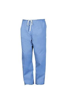 Worklon 899XXL Polyester/Cotton Unisex Scrub Pant with Drawcord Closure, Ciel Blue, 2X-Large