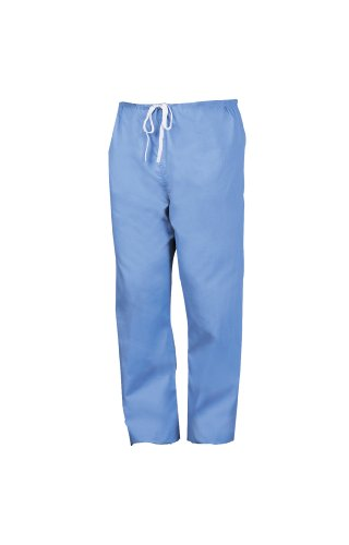 Worklon 899XXL Polyester/Cotton Unisex Scrub Pant with Drawcord Closure, Ciel Blue, - Reversible Pants Cotton Scrub