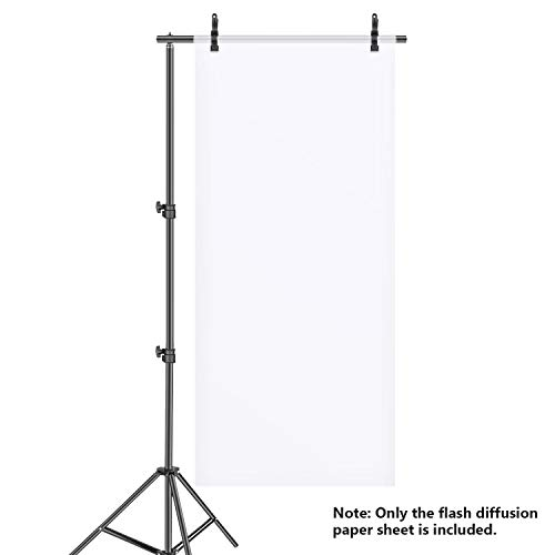 Neewer Photography Diffusion Paper Sheet 3.3x25.6feet/1x7.6 Meters Light Diffuser Filter Rollable Durable Waterproof for Photo Studio Product Portrait Photography, Video Shooting etc (Opal Diffusion Light)