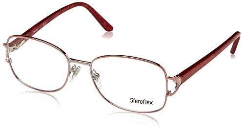 Lens Demo Frame Pink (Sferoflex SF2572 Eyeglass Frames 489-54 - Shiny Pink Frame, Demo Lens)