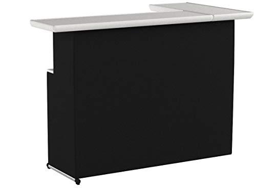 Best of Times, LLC Portable L-Shaped Bar, Black