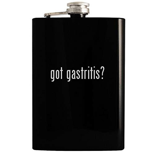 got gastritis? - Black 8oz Hip Drinking Alcohol Flask