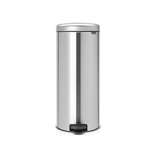 Brabantia Step Trash Can newIcon with Plastic Inner Bucket, 8 Gal. - Matt Steel Fingerprint proof