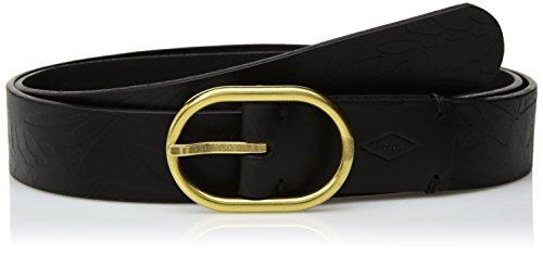 Fossil Women's Oval Jean Embossed Leather Belt Accessory, -black, L