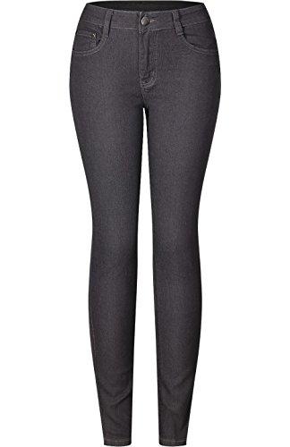 (2LUV Women's Stretchy 5 Pocket Destroyed Medium Denim Skinny Jeans Grey 0)
