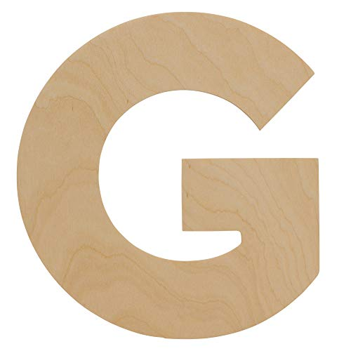 Wooden Letters - G - Unfinished 8