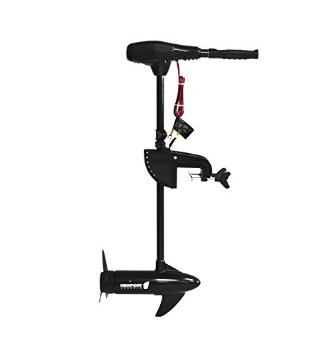 - Newport Vessels NV-Series 55lb Thrust Saltwater Transom Mounted Trolling Electric Trolling Motor w/ LED Battery Indicator & 30