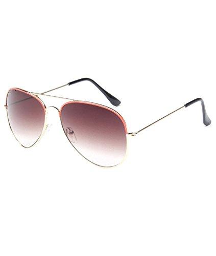 MissFox Naranja Vintage Gafas Talla para Retro de UV400 Lente Hombre Piloto y única Sol Mujer Sunglasses IIZwx