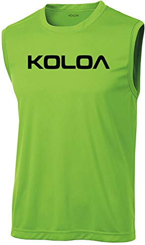 Koloa Original Logo Moisture Wicking Sleeveless T-Shirt-Lime/black-3XL ()