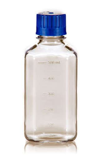 TriForest BGC0500SB PETG Square Media Bottle, 500ml, 73.8