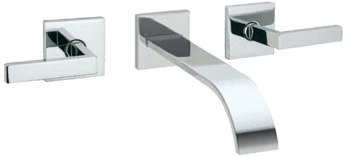 Stn Satin Nickel Wave (Rohl WA721L-STN Wave Wall Mount Tub Filler Faucet with Metal Lever Handles, Satin Nickel)