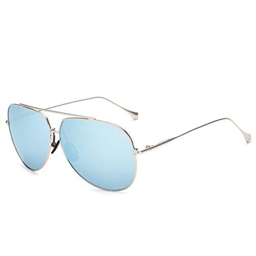 Wkaijc Flash-Liang Männer Block Metall Dünne Beine Einfach Farbfilter Polarisator Sonnenbrillen Sonnenbrillen,B