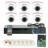 GW Security VD6C8CH891CVI 8-Channel 1080p Preview 720p Realtime Varifocal Zoom Night Vision Dome Security Camera DVR System with 1TB Hard Drive (White)