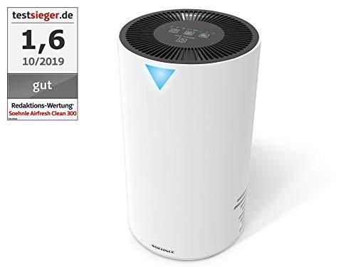 Soehnle Airfresh Clean 300 Purificador de aire para hogar, filtro de aire que protege de alergenos, eficaz limpiador de aire adecuado para alergicos