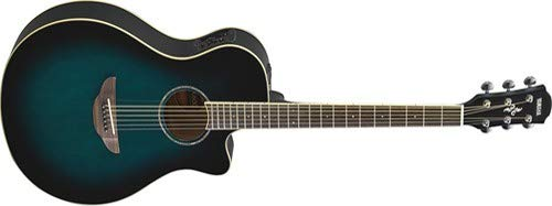 Yamaha APX600 OBB Thin Body Acoustic-Electric Guitar, Oriental Blue Burst