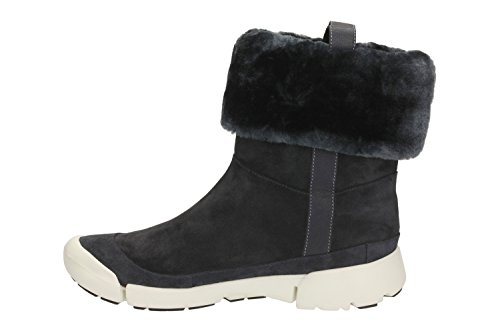 Attract Women's Navy Tri Lined Suede Ankle Warm Boots Clarks 1x7SaYS