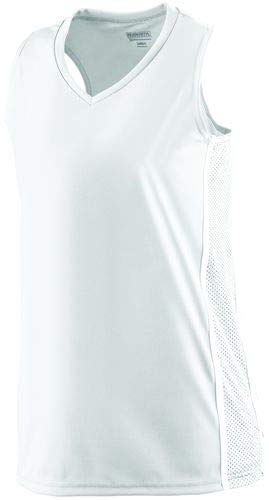 Augusta Sportswear Ladies Winning Streak Racerback Jersey L White/White ()