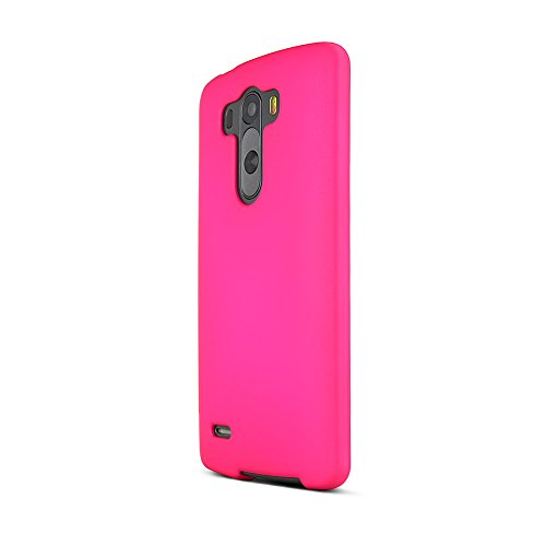 Hot Pink LG G3 Matte Rubberized Hard Case Cover; Perfect fit as Best Coolest Design Plastic Cases