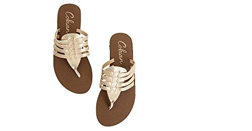 Cobian Women's Aloha Sandal Gold Size 7