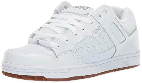 DVS Men's Enduro 125 Skate Shoe, White Reflective Gum New Black, 10 Medium US