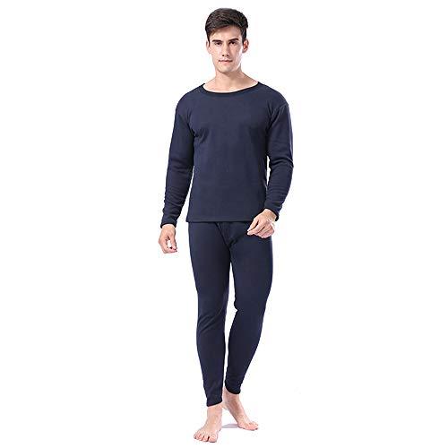 Lunghe Uomo Leggero Biancheria Set Bozevon Pigiama Da Caldo Pantaloni shirt T Termica Scuro Donna Blu uomo Maniche Intima E 5B8qqYxZ