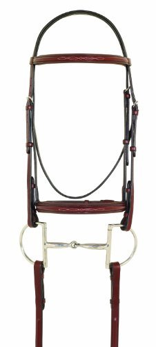 Camelot Fancy Stitched Raised Padded Bridle - Oakbark (Raised Fancy Stitched Bridle)