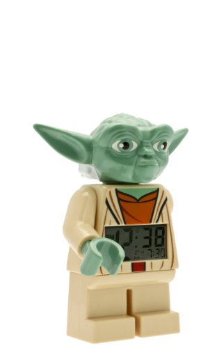 LEGO Star Wars Yoda Minifigure  Alarm Clock, 9.5