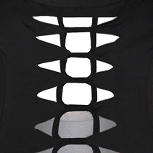 Jeramery Women's Casual Sleeveless Tops O-Neck 3D Printed Cat Cutout Back Tank Summer Loose Tunic Tee Shirt Blouse Tops Black by Jeramery shirt (Image #3)